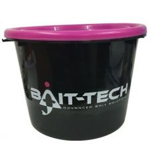 Bait-Tech Vedro S Vekom Groundbait Bucket And Lid Čierno Ružové 18 l
