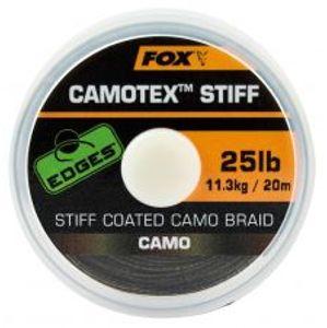 Fox Nadväzcová Šnúrka Edges Camotex Stiff 20 m-Priemer 20 lb / Nosnosť 9,1 kg