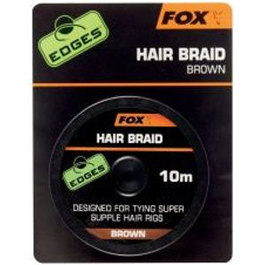Fox Nadväzcová Šnúrka Edges Hair Braid Brown 10 m