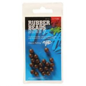 Giants Fishing Gumové Guličky Rubber Beads Transparent Brown  -4 mm