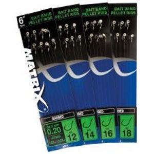 """Matrix Nadväzce 6 """"Bait Band Pellet Rigs Barbed-Veľkosť Háčika  16"""