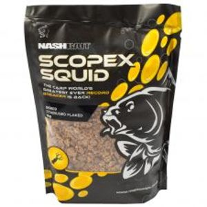 Nash Drvené Boilie Scopex Squid Stabilised Flake 1-2 mm-Hmotnost 1 kg