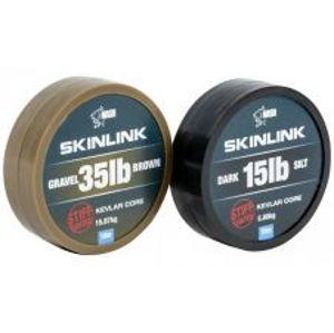 Nash Nadväzcová Šnúrka Obalená SkinLink Stiff 10 m Silt Tmavá-Priemer 15 lb / Nosnosť 6,80 kg