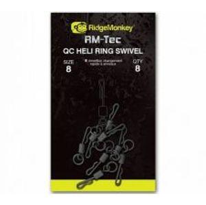 RidgeMonkey Rychlovýmenný obratlík s krúžkom Quick Change Heli Ring Swivel-veľkosť 8