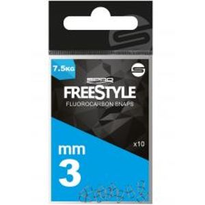 Spro Karabinka FreeStyle Reload Fluoro Snaps 10 ks-3,5 mm