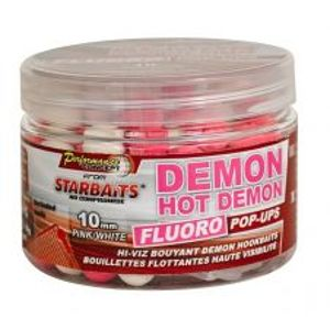 Starbaits Boilie Fluo plávajúce Hot Demon-60 g 10 mm